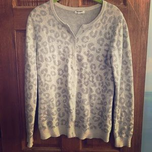 OLD NAVY ANIMAL PRINT CARDIGAN